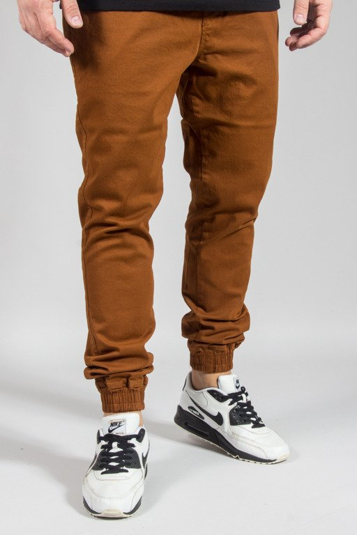 DIAMANTE WEAR PANTS CHINO JOGGER RM BROWN