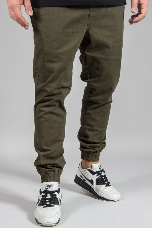 DIAMANTE WEAR PANTS CHINO JOGGER RM GREEN