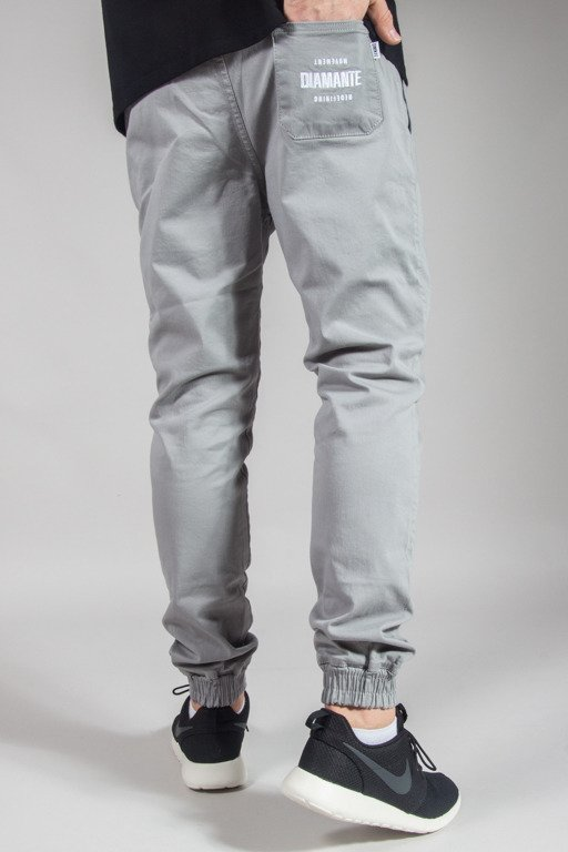 DIAMANTE WEAR PANTS CHINO JOGGER RM GREY