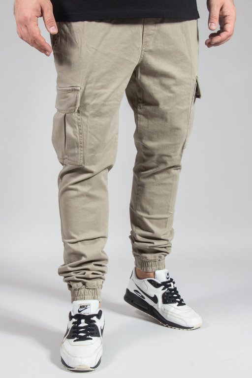 DIAMANTE WEAR PANTS CHINO JOGGER RM HUNTER BEIGE
