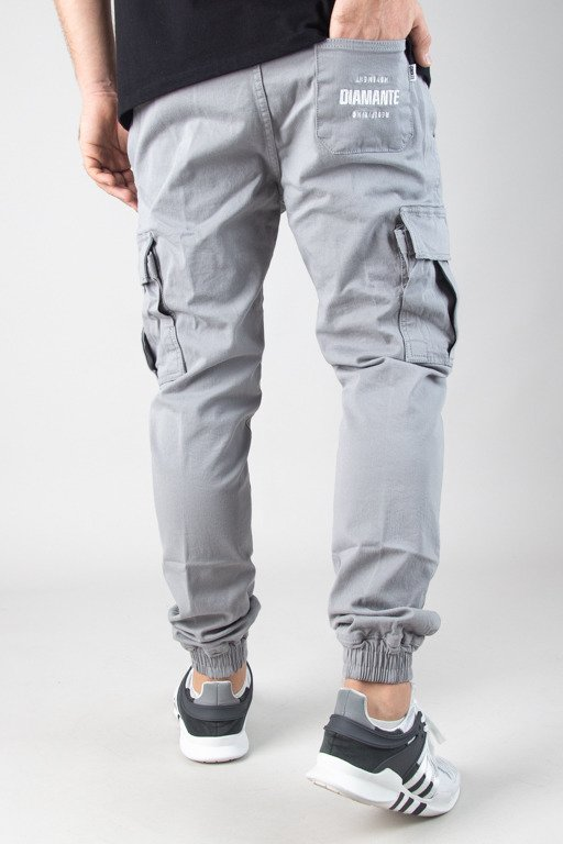 DIAMANTE WEAR PANTS CHINO JOGGER RM HUNTER MELANGE