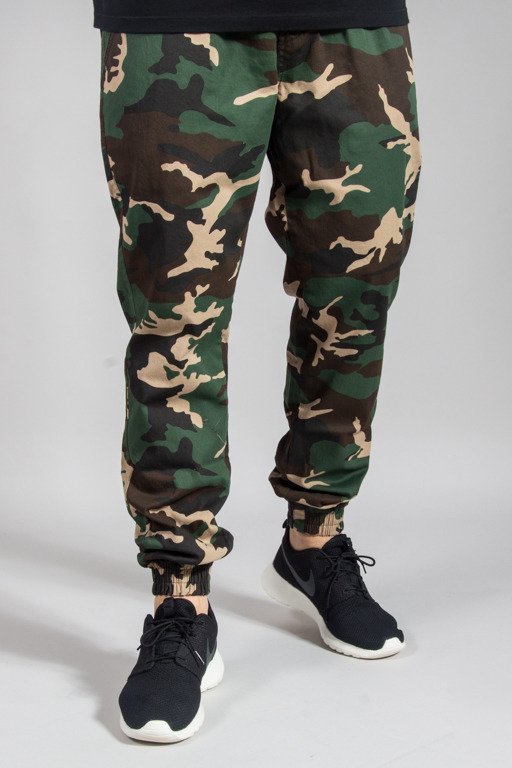 DIAMANTE WEAR PANTS CHINO JOGGER WOODLAND CAMO