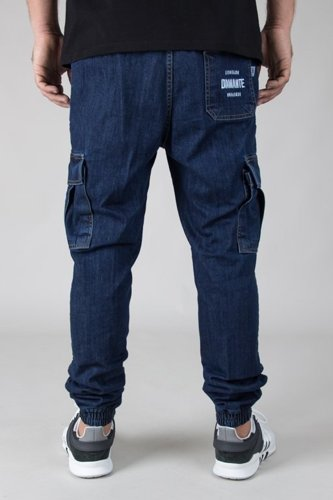 DIAMANTE WEAR PANTS JEANS JOGGER RM BOJÓWKI DARK