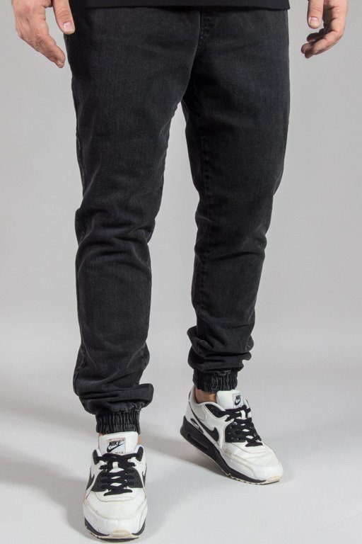 DIAMANTE WEAR PANTS JEANS JOGGER RM MARMUR BLACK