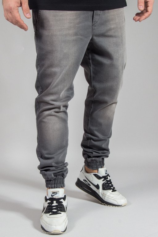 DIAMANTE WEAR PANTS JEANS JOGGER RM WYPRANE GREY
