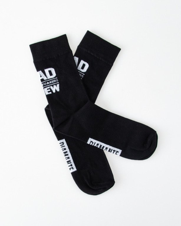 DIAMANTE WEAR SOCKS BAD BLACK