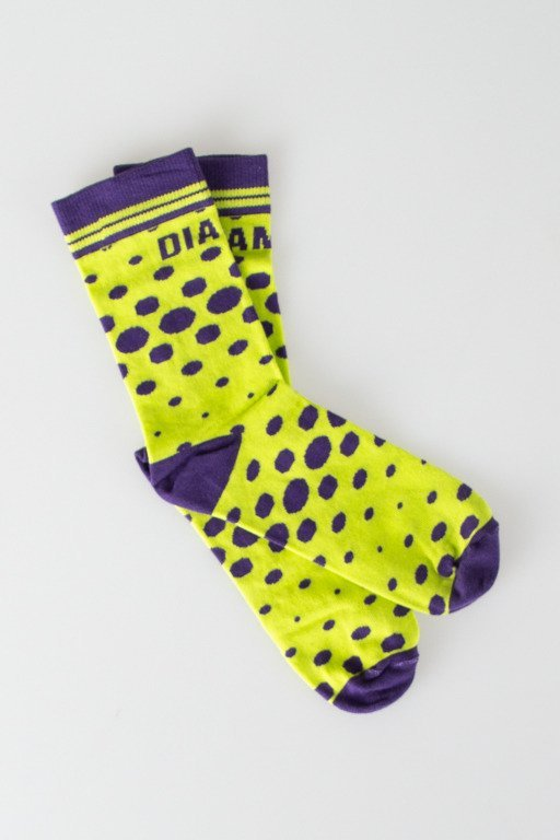 DIAMANTE WEAR SOCKS LONG TOXIC LIME