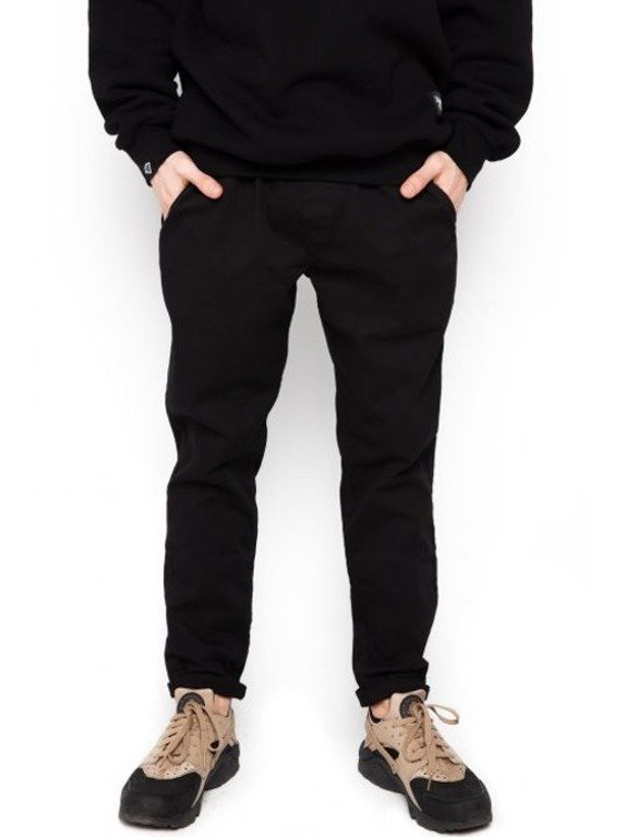 DIAMANTE WEAR SPODNIE CHINO ELEGANT BLACK