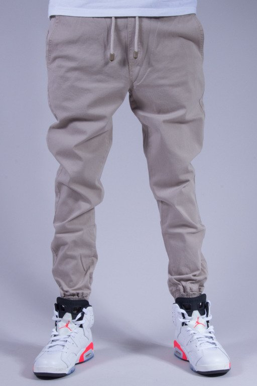 DIAMANTE WEAR SPODNIE CHINO JOGGER LIGHT GREY