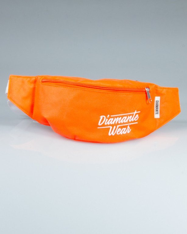 DIAMANTE WEAR STREETBAG BIG LOGO ORANGE
