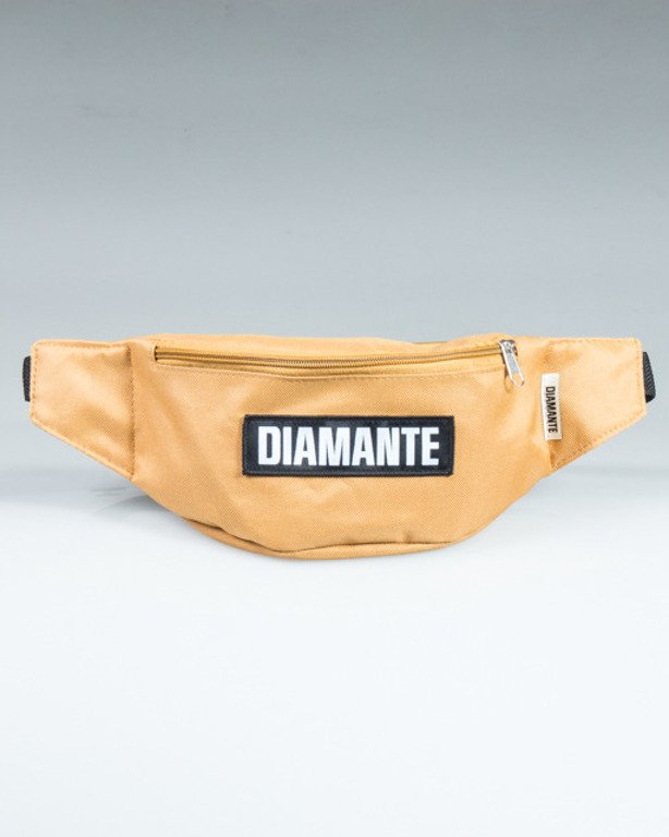 DIAMANTE WEAR STREETBAG BLACK LOGO GOLD