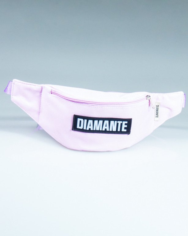 DIAMANTE WEAR STREETBAG BLACK LOGO LIGHT VIOLET