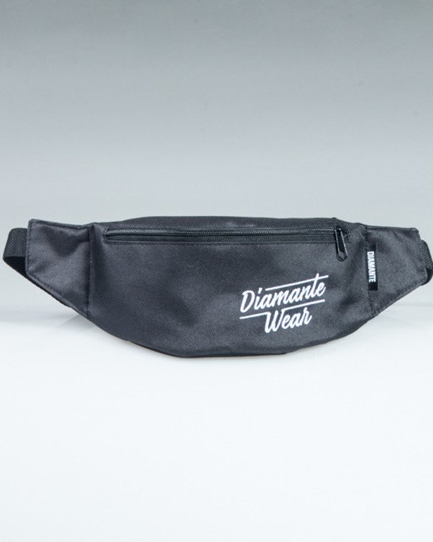 DIAMANTE WEAR STREETBAG LOGO BLACK-WHITE
