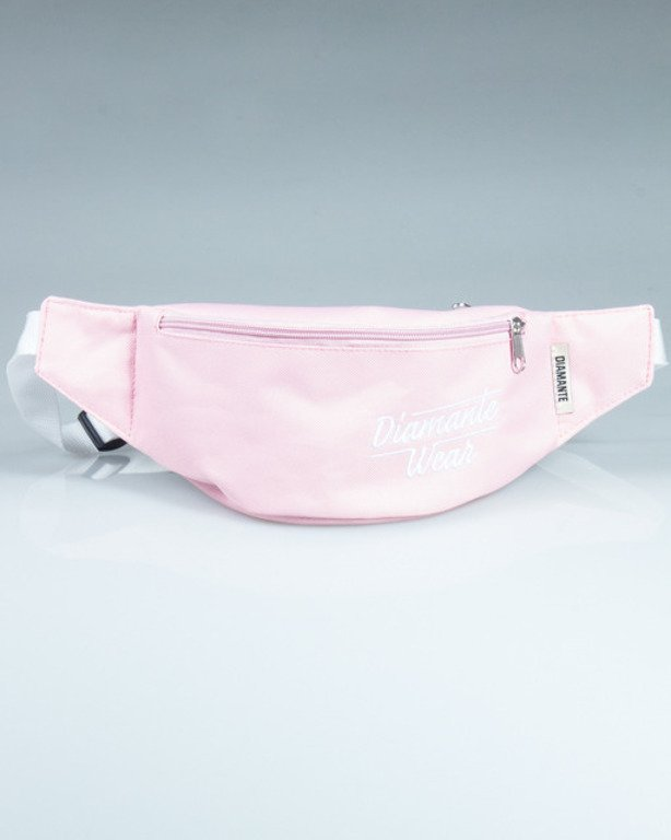 DIAMANTE WEAR STREETBAG LOGO LIGHT PINK