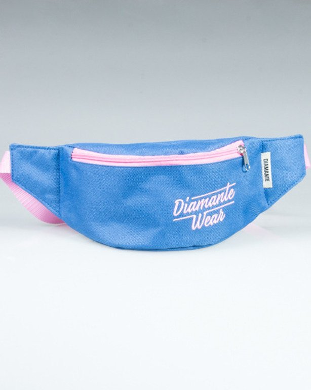 DIAMANTE WEAR STREETBAG LOGO NAVY-PINK