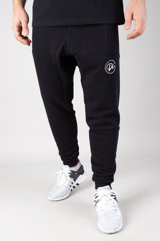 DIAMANTE WEAR SWEATPANTS HIPSTER HAFT BLACK