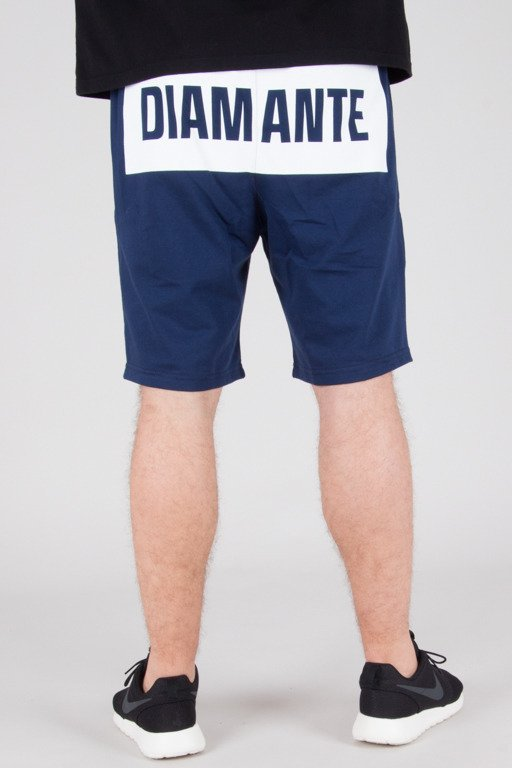DIAMANTE WEAR SWEATSHORTS BOXLOGO NAVY