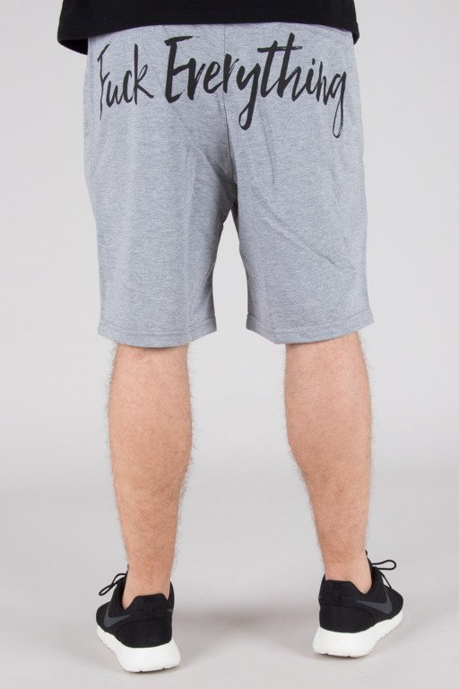 DIAMANTE WEAR SWEATSHORTS FUCK EVERYTHING GREY