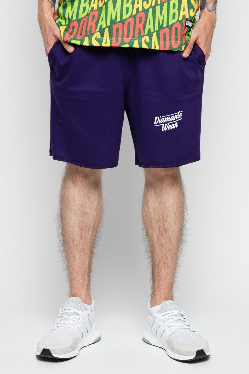 DIAMANTE WEAR SWEATSHORTS LOGO VIOLET