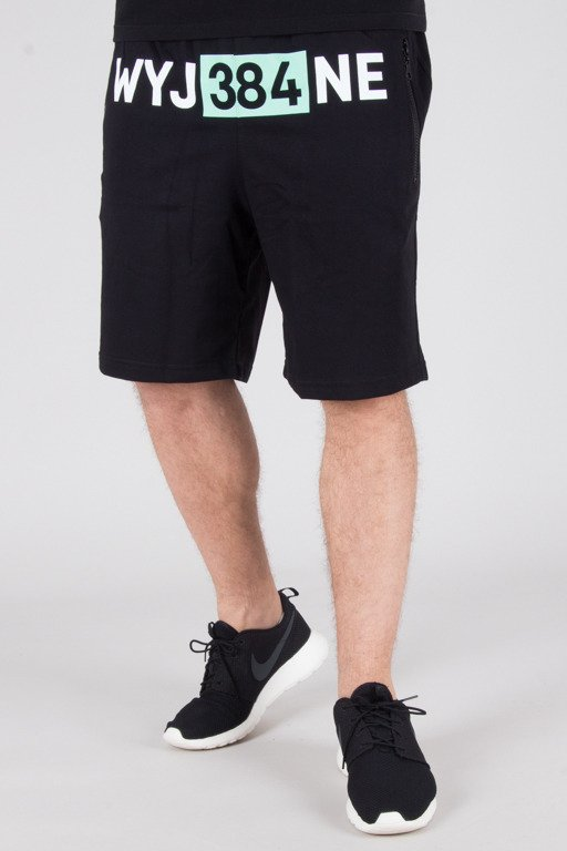DIAMANTE WEAR SWEATSHORTS WYJ38ANE BLACK
