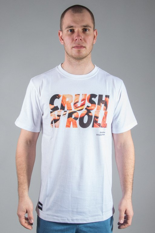 DIAMANTE WEAR T-DHIRT CRUSH & ROLL WHITE