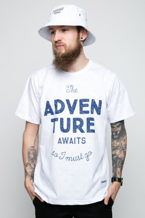 DIAMANTE WEAR T-SHIRT ADVENTURE AWAITS WHITE