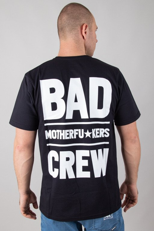 DIAMANTE WEAR T-SHIRT BAD MOTHERFUCKERS BLACK