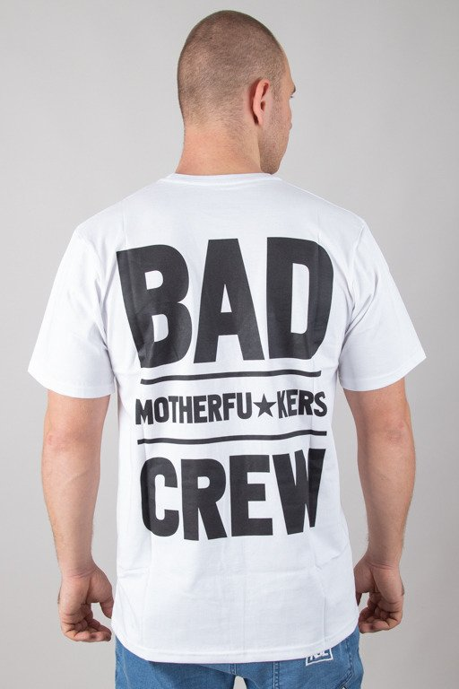 DIAMANTE WEAR T-SHIRT BAD MOTHERFUCKERS WHITE