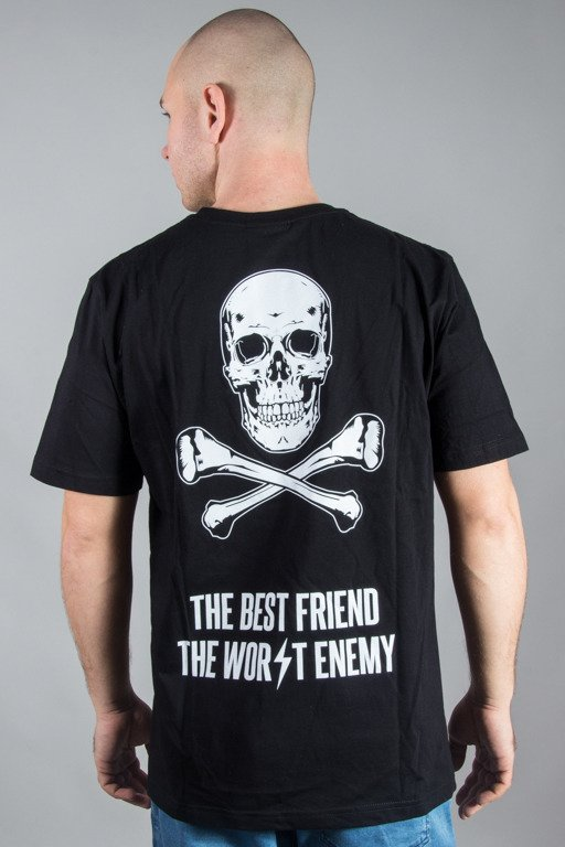 DIAMANTE WEAR T-SHIRT BEST FRIEND WORST ENEMY BLACK