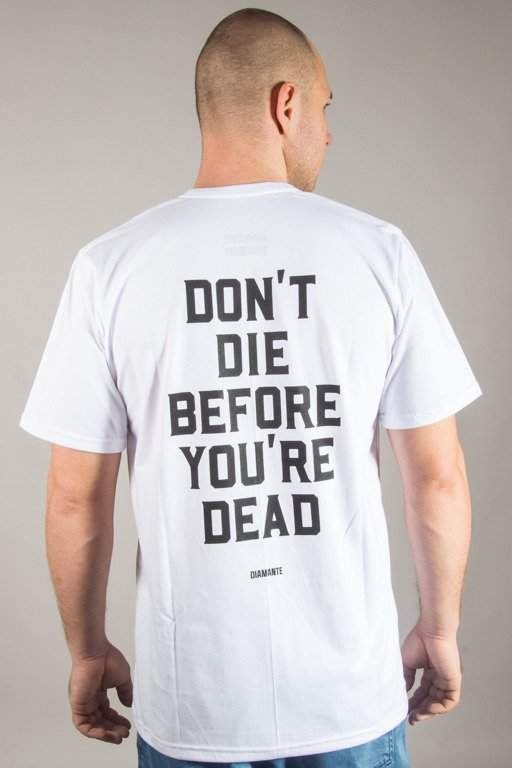 DIAMANTE WEAR T-SHIRT DON'T DIE' WHITE