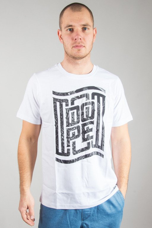 DIAMANTE WEAR T-SHIRT FLAG DOPE WHITE