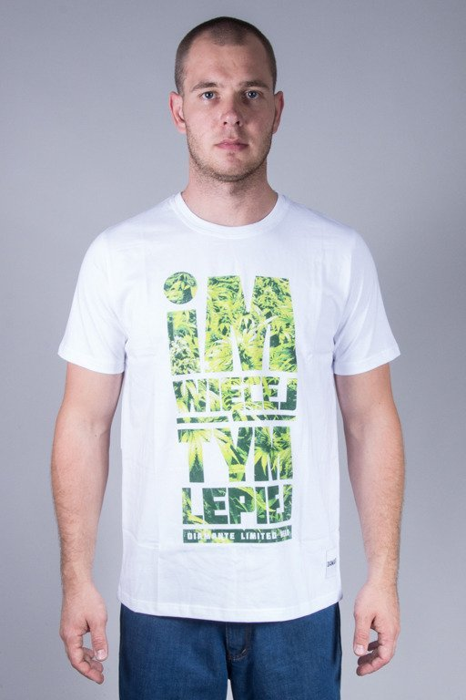 DIAMANTE WEAR T-SHIRT IM WIĘCEJ WHITE-GANJA