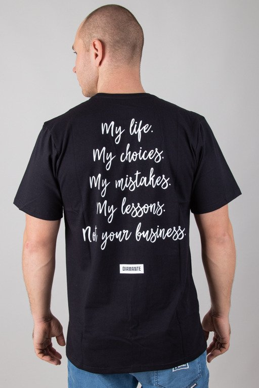 DIAMANTE WEAR T-SHIRT MY LIFE BLACK