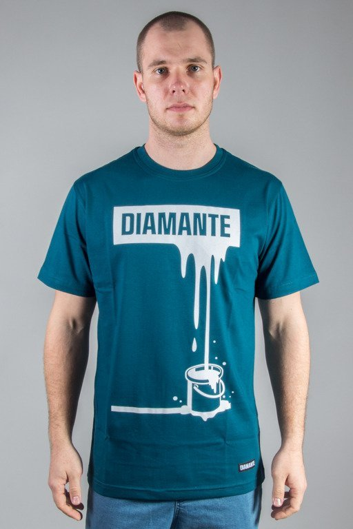 DIAMANTE WEAR T-SHIRT PAINTIN WHITE GREEN