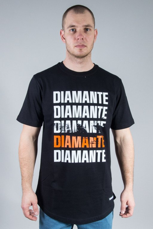 DIAMANTE WEAR T-SHIRT SCRATCH BLACK