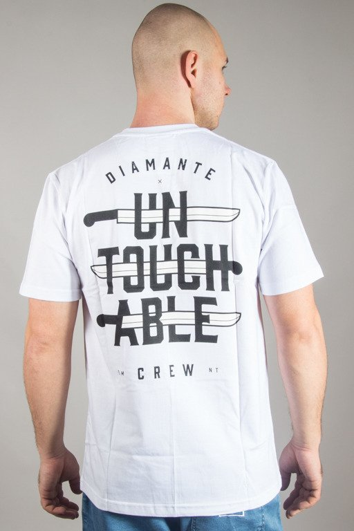 DIAMANTE WEAR T-SHIRT UNTOUCHABLE CREW WHITE