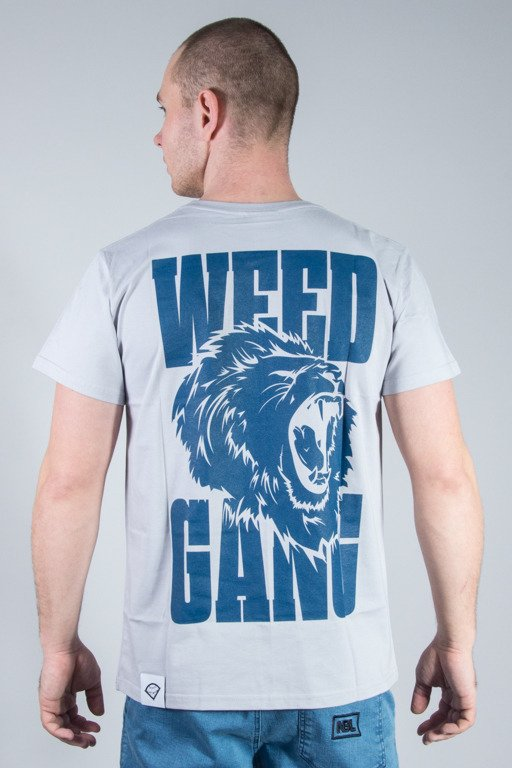 DIAMANTE WEAR T-SHIRT WEED GANG GREY