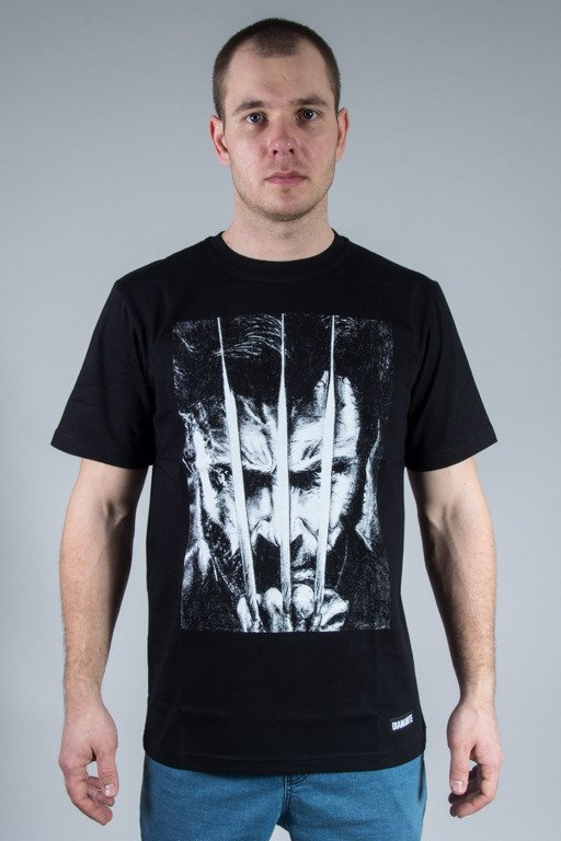 DIAMANTE WEAR T-SHIRT WOLVERINE HERO BLACK
