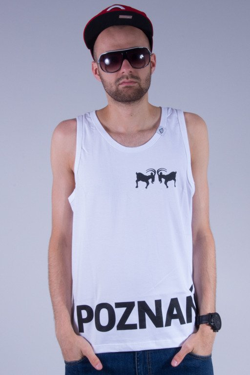 DIAMANTE WEAR TANK TOP POZNAŃ WHITE
