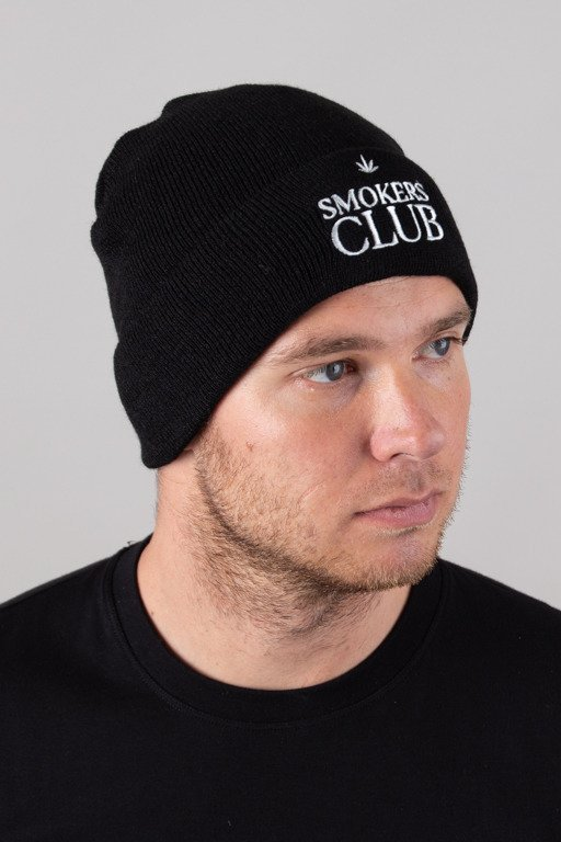 DIAMANTE WEAR WINTER CAP SMOKERS CLUB BLACK