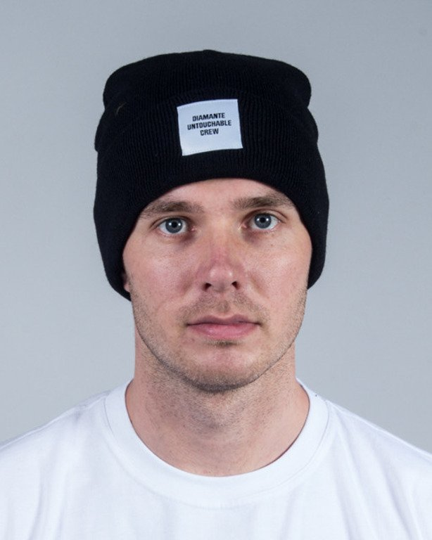 DIAMANTE WEAR WINTER CAP UNTOUCHABLE CREW BLACK