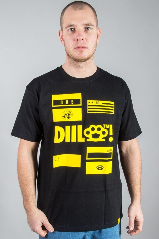 DIIL T-SHIRT N.D.O BLACK-YELLOW