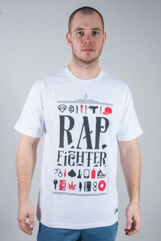DIIL T-SHIRT RAP FIGHTER WHITE