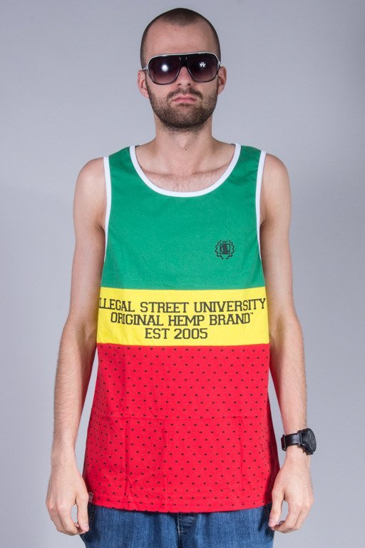 DIIL TANK TOP OHB COLOR GREEN-RED