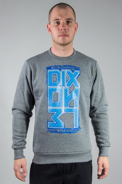 DIXON 37 CREWNECK ORNAMENT GREY