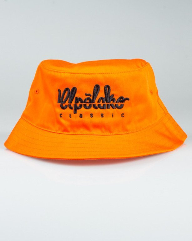 EL POLAKO BUCKET HAT LOGO CUT ORANGE