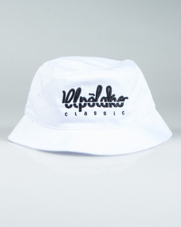 EL POLAKO BUCKET HAT LOGO CUT WHITE
