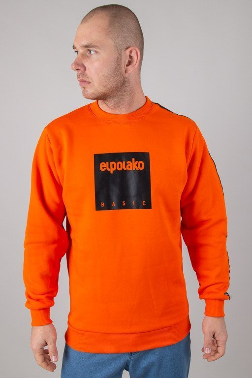 EL POLAKO CREWNECK BOX STYLE ORANGE
