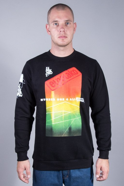 EL POLAKO CREWNECK COLORFULL BLACK