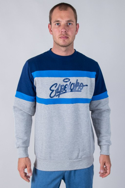 EL POLAKO CREWNECK COLORS CUT GREY-NAVY